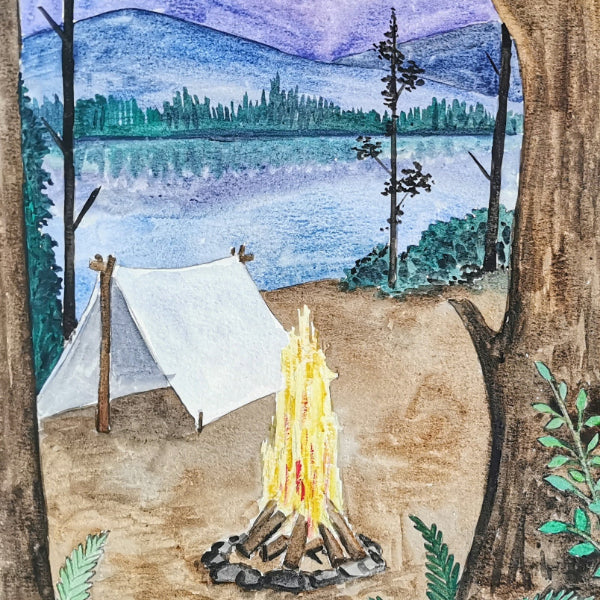 Watercolor Painting: Gone Camping | Family