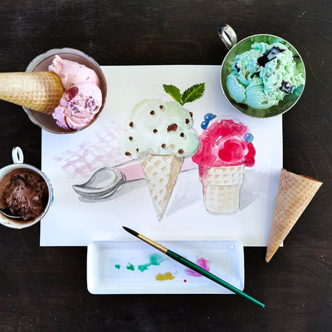 Fun with Watercolor: Ice Cream | Family