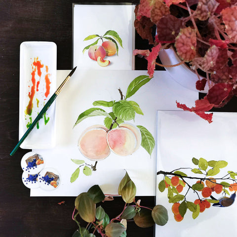 Fun with Watercolor: Peaches and Plums | Family