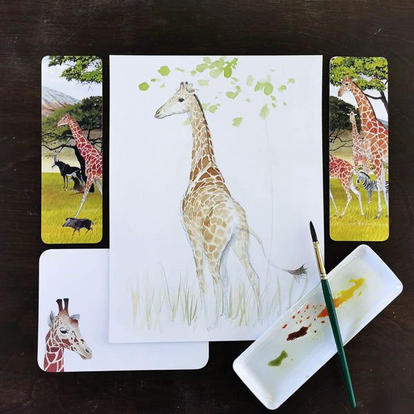Fun with Watercolor: Giraffes | Family