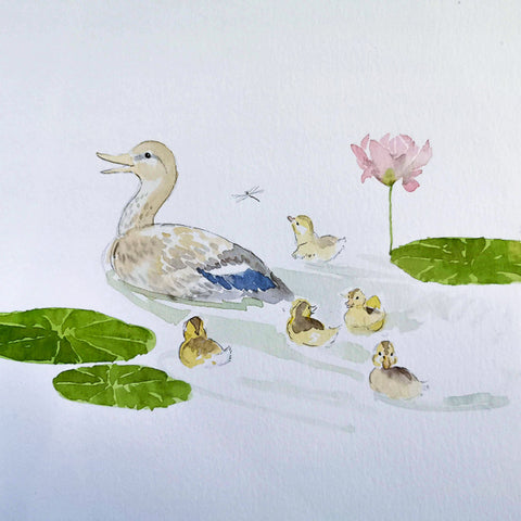 Watercolor Paint Night: Ducklings | Teens and Adults