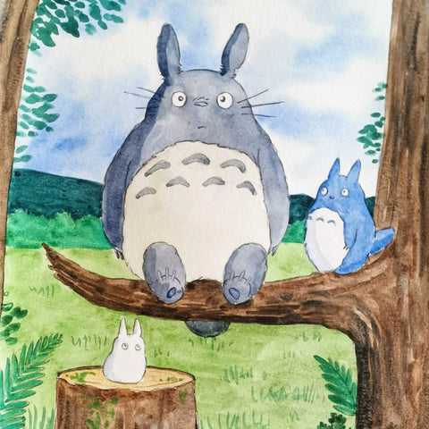Watercolor Painting: Totoro | All Ages