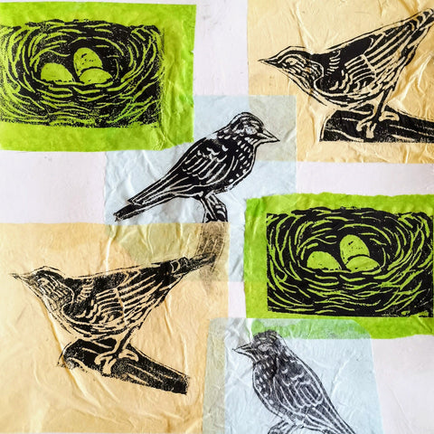 Mixed Media Collage: Birds | All Ages