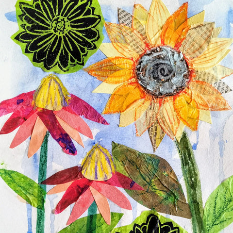 Mixed Media Collage: Spring Flowers | All Ages