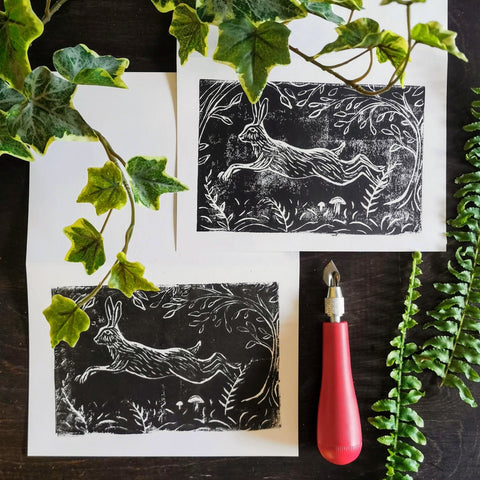Linoleum Block Printing: Woodland Creatures | Adults