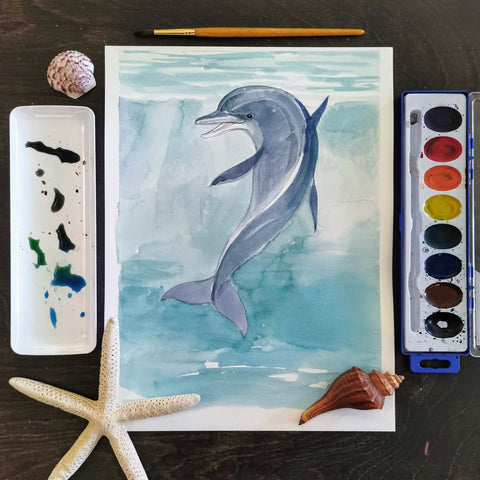 Fun with Watercolor: Dolphins | All Ages