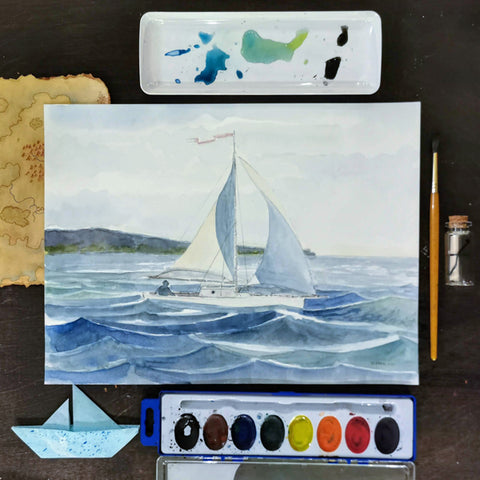 Fun with Watercolor: Sailboats | All Ages