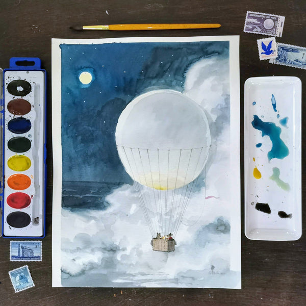 Fun with Watercolor: Hot Air Balloons | All Ages