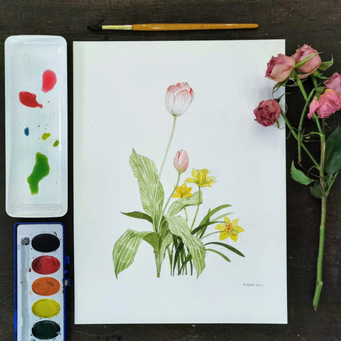 Fun with Watercolor: Tulips and Daffodils | All Ages