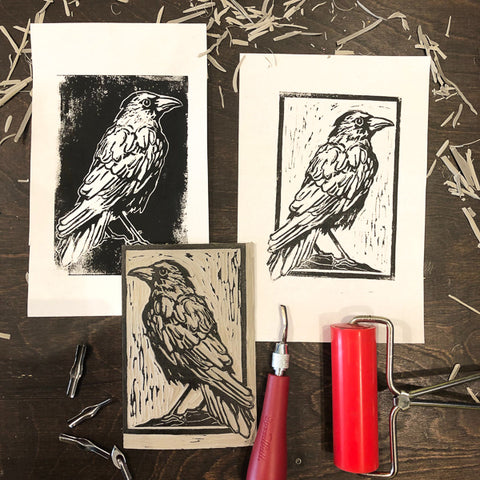 Linoleum Block Printing: Birds | Adults