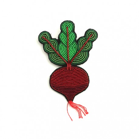 Beetroot Hand-Embroidered Pin