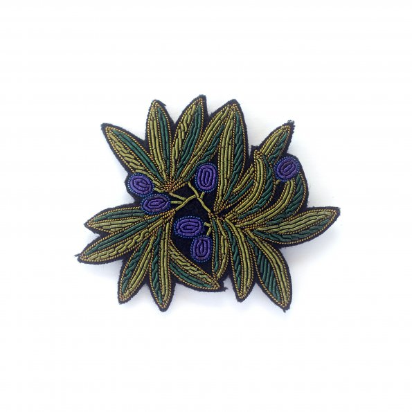 Olive Branch Hand-Embroidered Pin