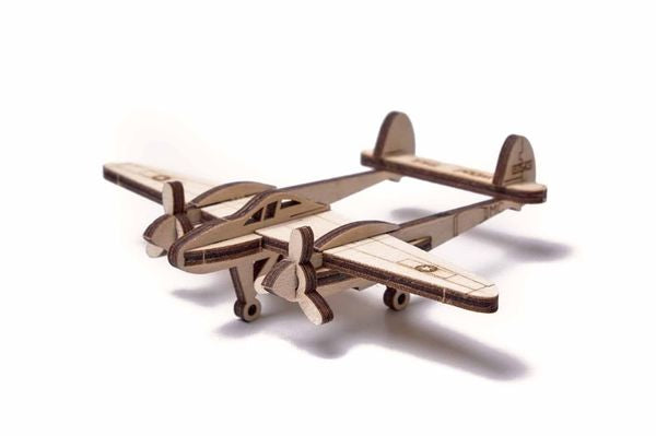 Woodik Lightning Plane | 3D Wooden Mechanical Puzzle