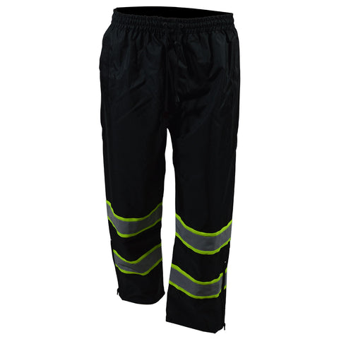 BKPP-LG Black/Lime Two Tone Waterproof Draw Strings Rain Pants