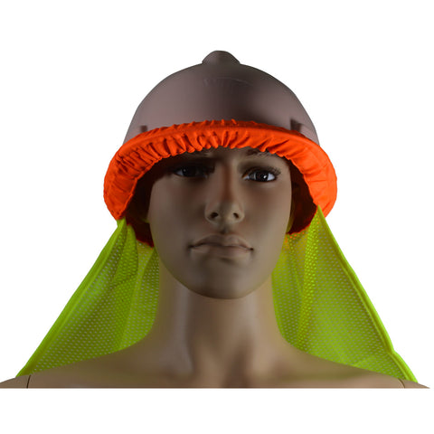 High Visibility Neck Sun Shield for Hard Hats