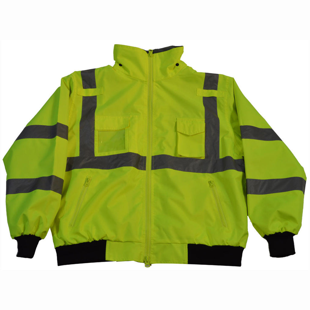 LBJ-C3 ANSI Class 3 Waterproof Bomber Jacket with Removable Liner