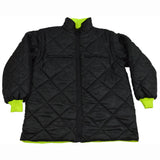 LBPJ6IN1-C3  ANSI Lime / Black Two Tone Waterproof 6-IN-1 Jacket & Vest / Removable Hood (Two Class 3 Jackets In One)