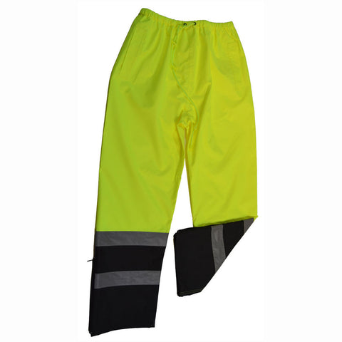 LBPP-CE ANSI/ISEA 107-2010 Class E Lime/Black Waterproof Rain Draw Strings Pants