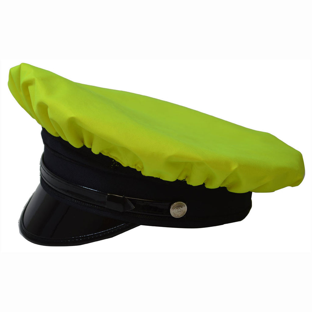 LBRV-CAP Lime/Black Reversible Waterproof Hi-Vis Hat Cover for Traditional 8-Point Hat