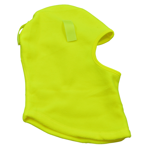 LMSK-S1 Balaclava Fleece Head Wear Ski Mask & Hardhat Liner, Lime, One Size