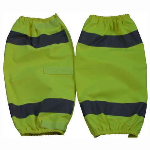LOG-CE ANSI Class E Lime Reflective Leggings With Adjustable Velcro Closures
