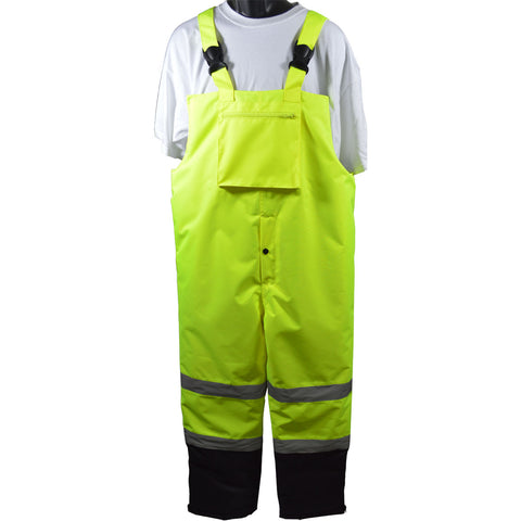 ANSI/ISEA 107-2015 Class E Waterproof Quilted Thermal Bib Rain Pants