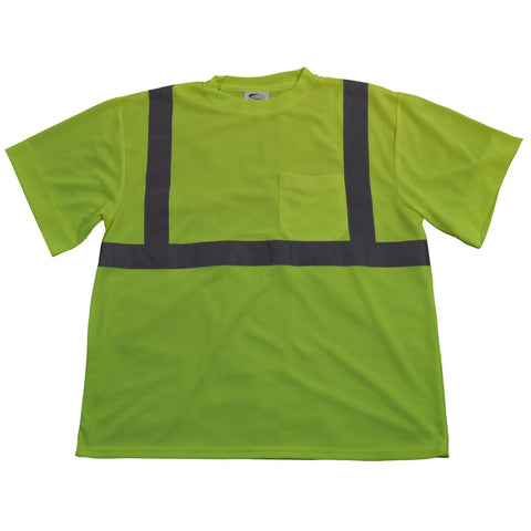 LTS2 ANSI/ISEA 107-2010 Class 2 Lime T-Shirt