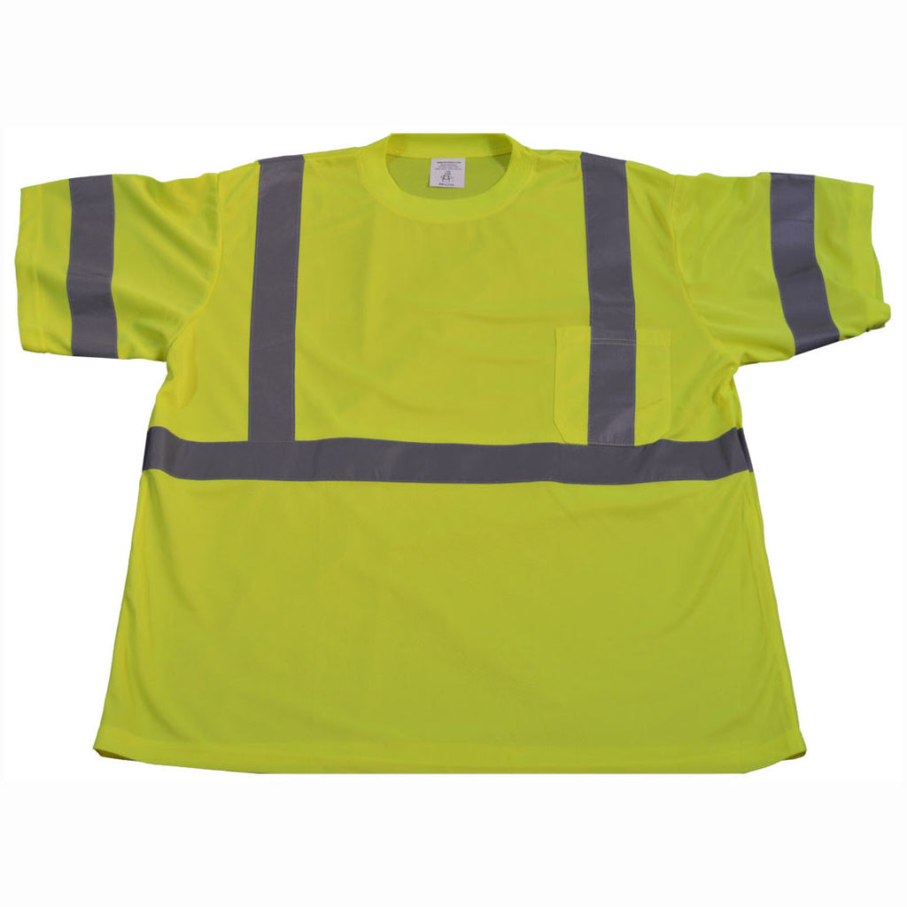 LTS3 ANSI/ISEA 107-2010 CLASS 3 Lime T-Shirt