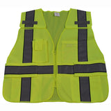 LV2-BPSV ANSI/ISEA Lime/Navy Two Tone Expandable 5-Point Breakaway Public Safety Vest
