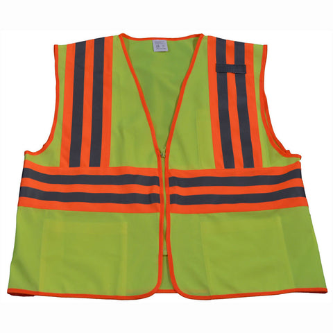 LV2-CB2/LVM2-CB2 ANSI/ISEA Deluxe Two Tone DOT Class II Safety Vest
