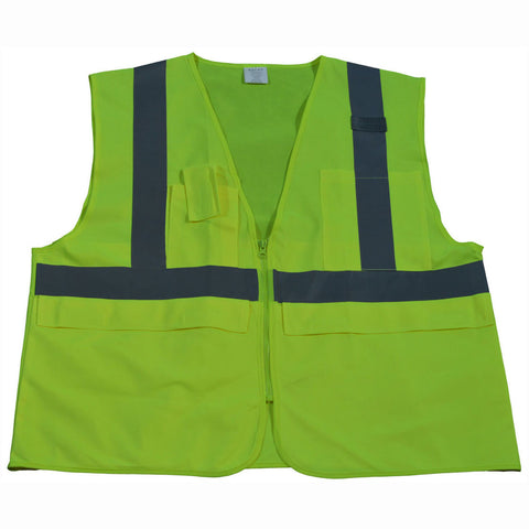 LV2-SUV/LVM2-SUV ANSI/ISEA 5-Pocket Deluxe Surveyor's Safety Vest