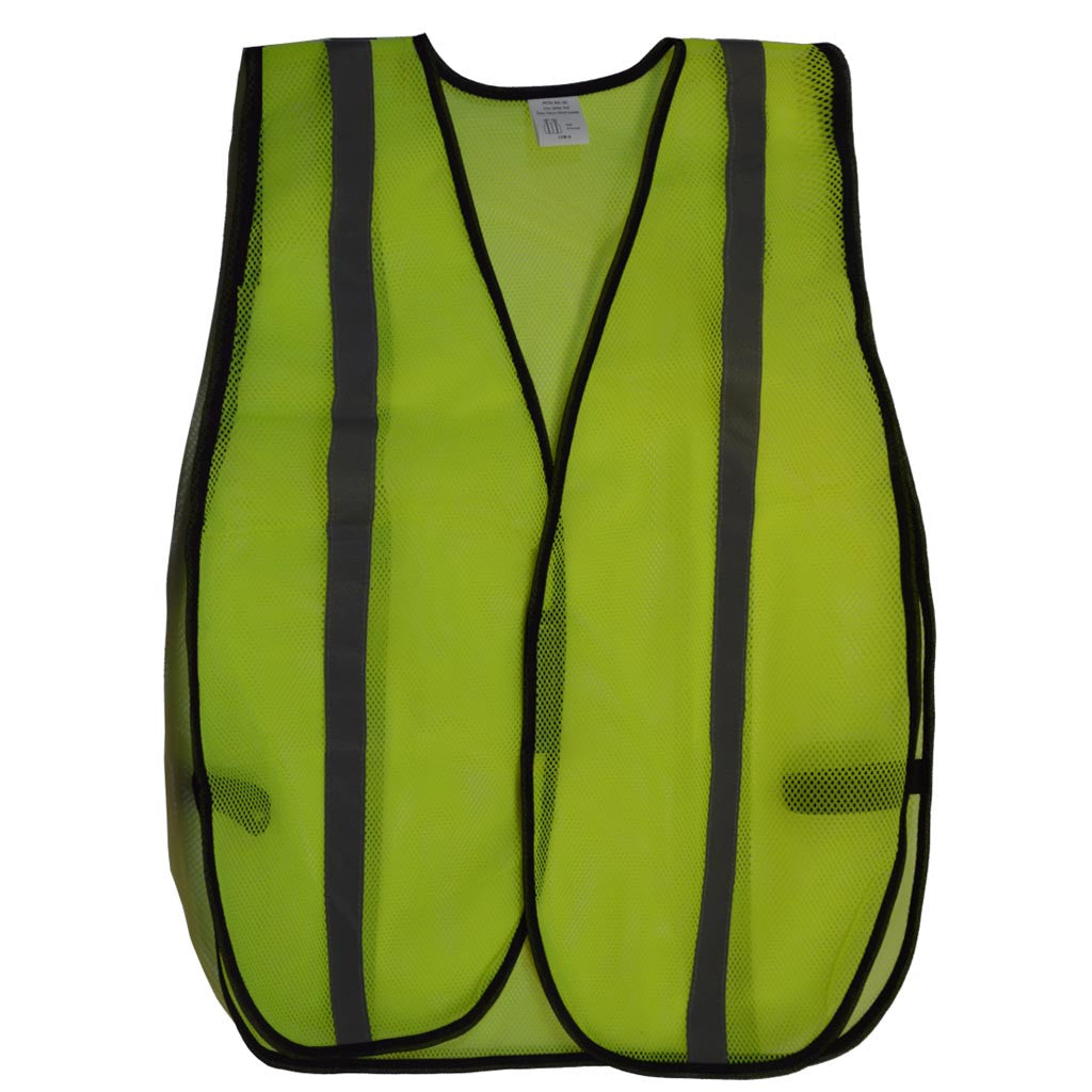 LVM-S/OVM-S ANSI Non-Rated Mesh Safety Vest - Silver Reflective Tape