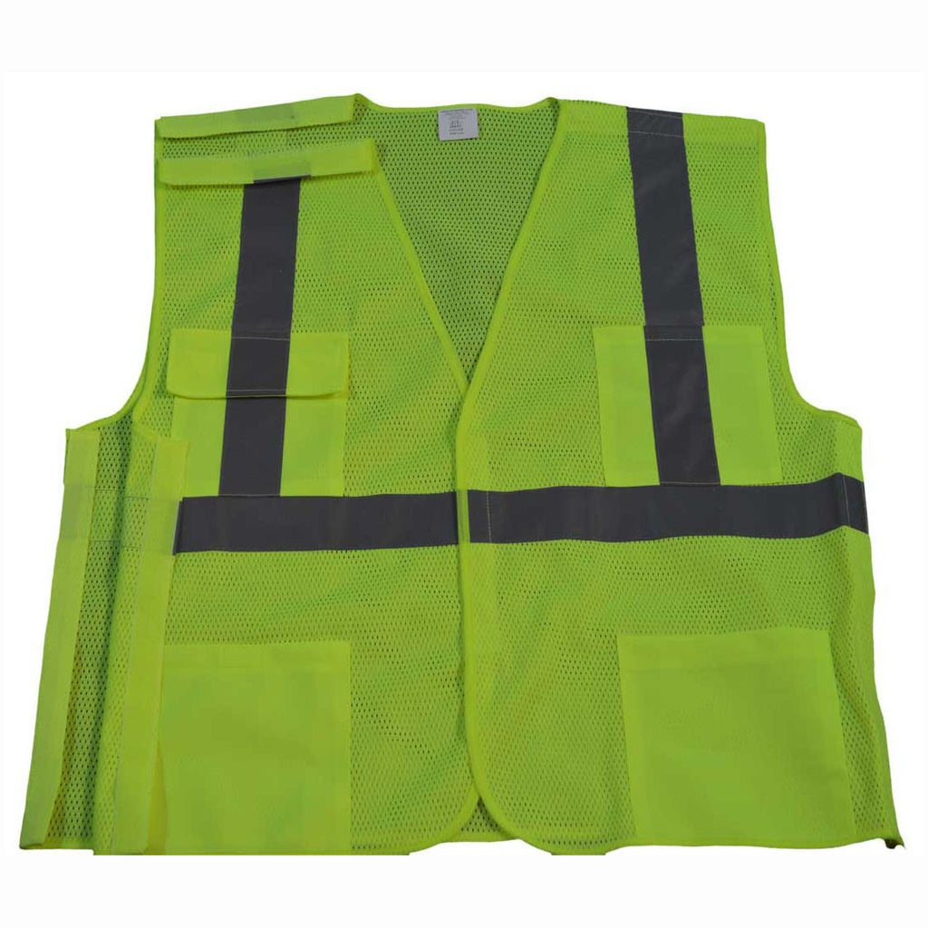 LVM2/OVM2-5PB ANSI/ISEA 5-Point Break Away Class II Safety Vest