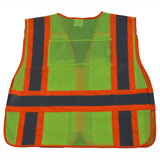 LVM2/LV2-PSVP ANSI/ISEA Two Tone Expandable 5-Point Breakaway Public Safety Vest with Clear PVC Pocket on Back