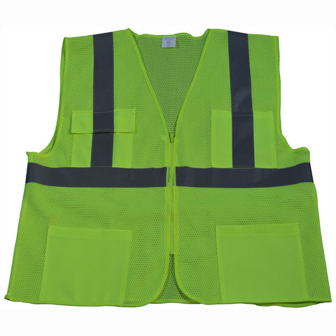 LV24/LVM24/OVM24 ANSI/ISEA 107-2015 CLASS II 4-Pocket Safety Vests
