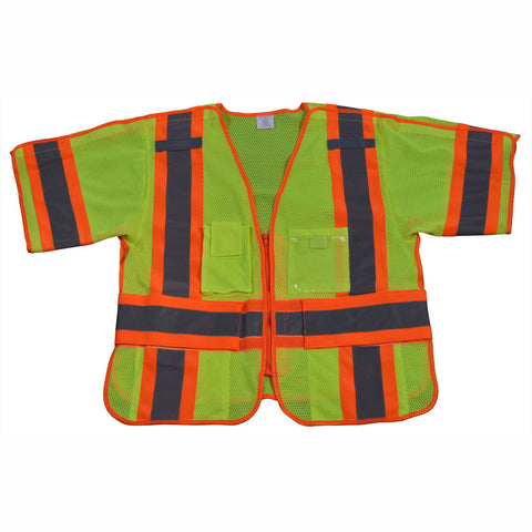 LVM3/OVM3-5PB-CB1 ANSI 107-Class 3 Breakaway Short Sleeve Shirt/Vest , Two Tone Deluxe