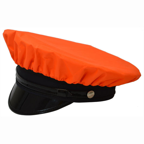 OBRV-CAP Orange/Black Reversible Waterproof Hi-Vis Hat Cover for Traditional 8-Point Hat