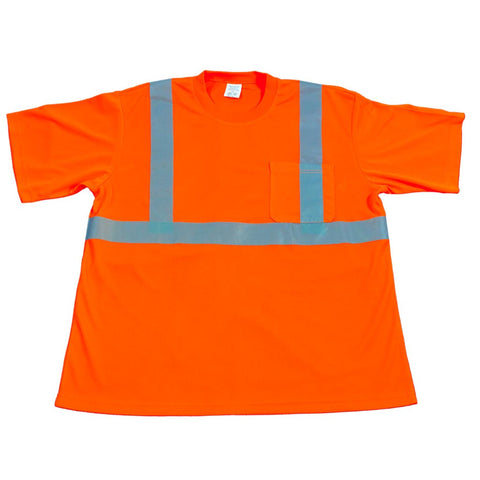 OTS2 ANSI/ISEA 107-2010 CLASS 2 ORANGE T-SHIRT