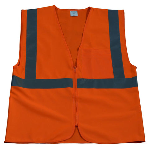 OV2-CB0/OVM2-CB0 ANSI/ISEA 107-2010 CLASS 2 Safety Vest Zipper Closure