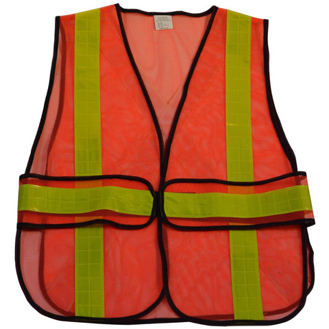 "OVM-HGCSA ANSI Non-Rated Mesh Vest With Adjustable Sides & Reflective ""X"" On Back"
