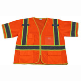 OVM3-CB1 ANSI/ISEA 107-2010 Class 3 Two Tone DOT Surveyors Safety Vest, Deluxe