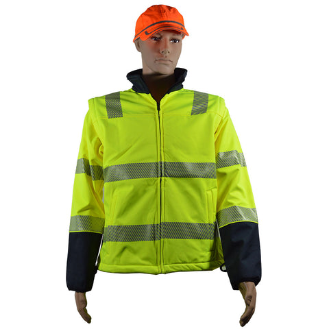 SOFT SHELL JACKET, ANSI CLASS 3, HIGH-VIS LIME OR ORANGE