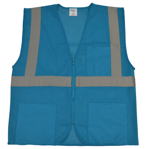 BVM-S1 ANSI NON-Rated BLUE Mesh Safety Vest for Enhanced Safety & Identification