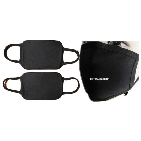 COT-MASK-BLK01: 2-Ply Reusable Cotton Mask, Black