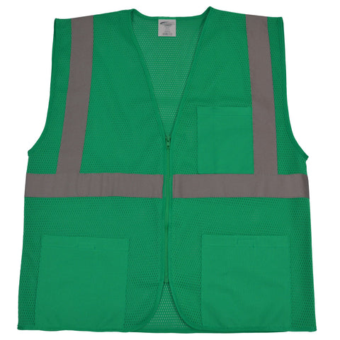 GVM-S1 ANSI NON-Rated Green Mesh Safety Vest for Enhanced Safety & Identification