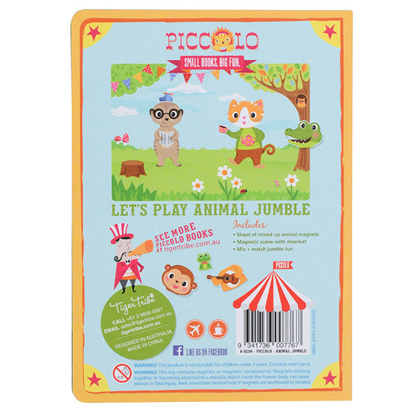 Tiger Tribe Piccolo Magnet Book - Animal Jumble - goodforkids.com.au