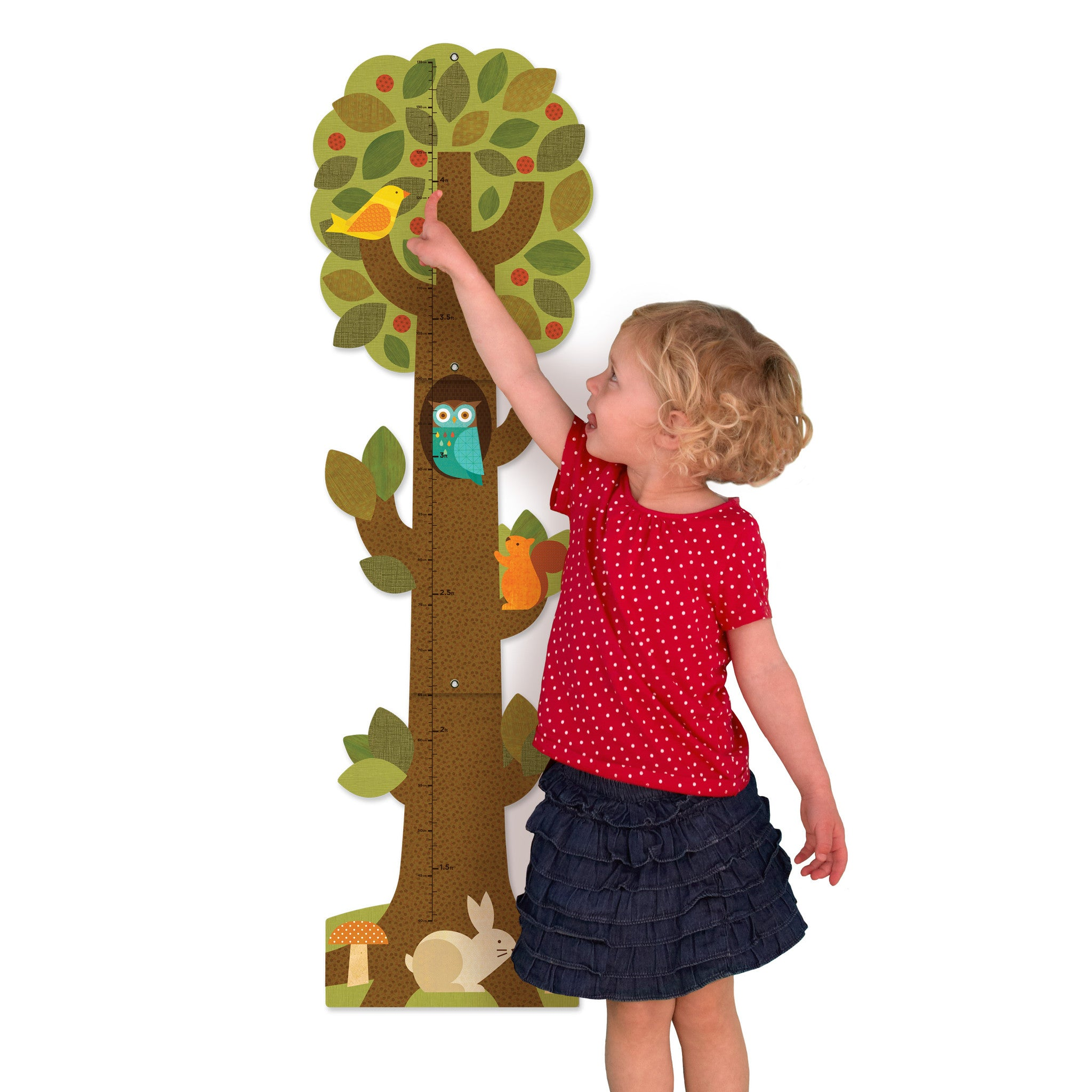 Petit Collage Growth Chart Tree Friends Good For Kids