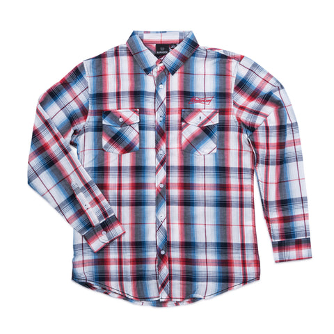 Budweiser TRUE BUD COLORS BURNSIDE MEN'S PLAID SHIRT