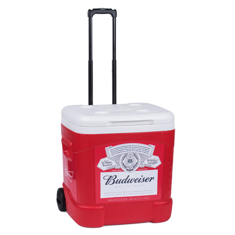 Budweiser BUD IGLOO 60 QT WHEELED COOLER