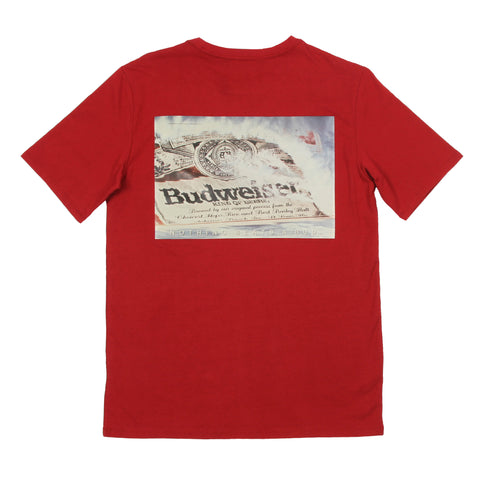#BeenTrill Budweiser Wave Pocket Tee - Burgundy